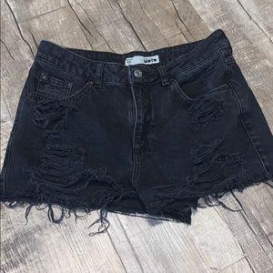 Topshop Distressed Moto Shorts